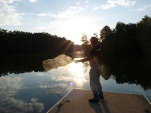 Using a fishing net